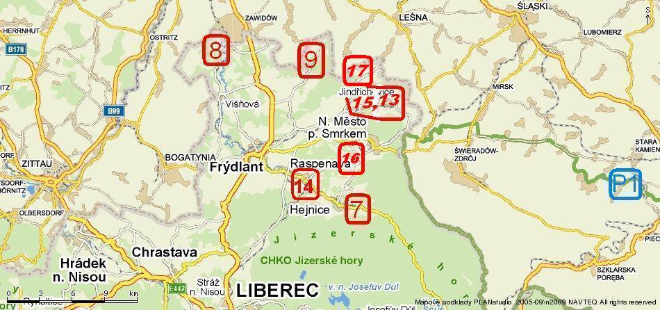 Mapa Frýdlantsko k 20.2.2011